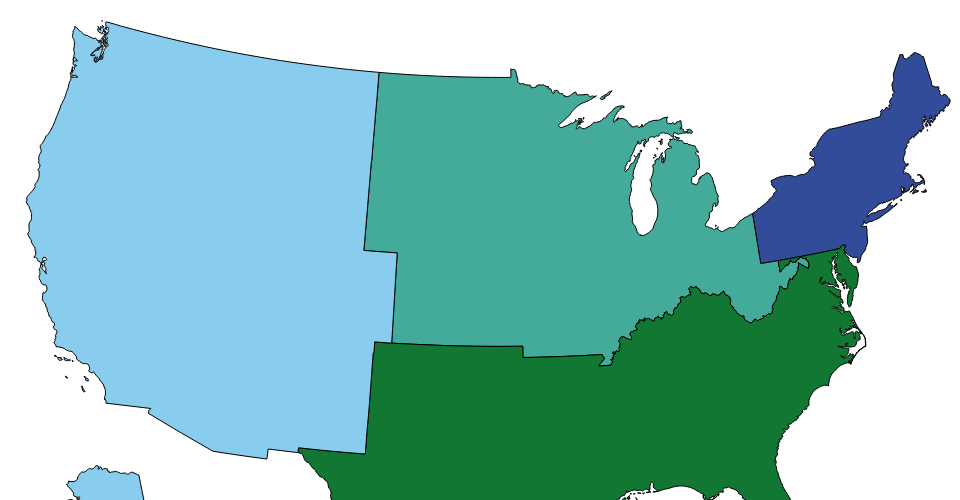 Fixed projection for US States